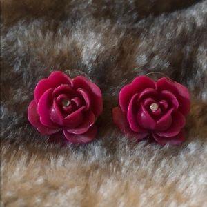 Betsey Johnson rose earrings🌹